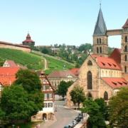 Blick auf die Esslinger Burg in Esslingen