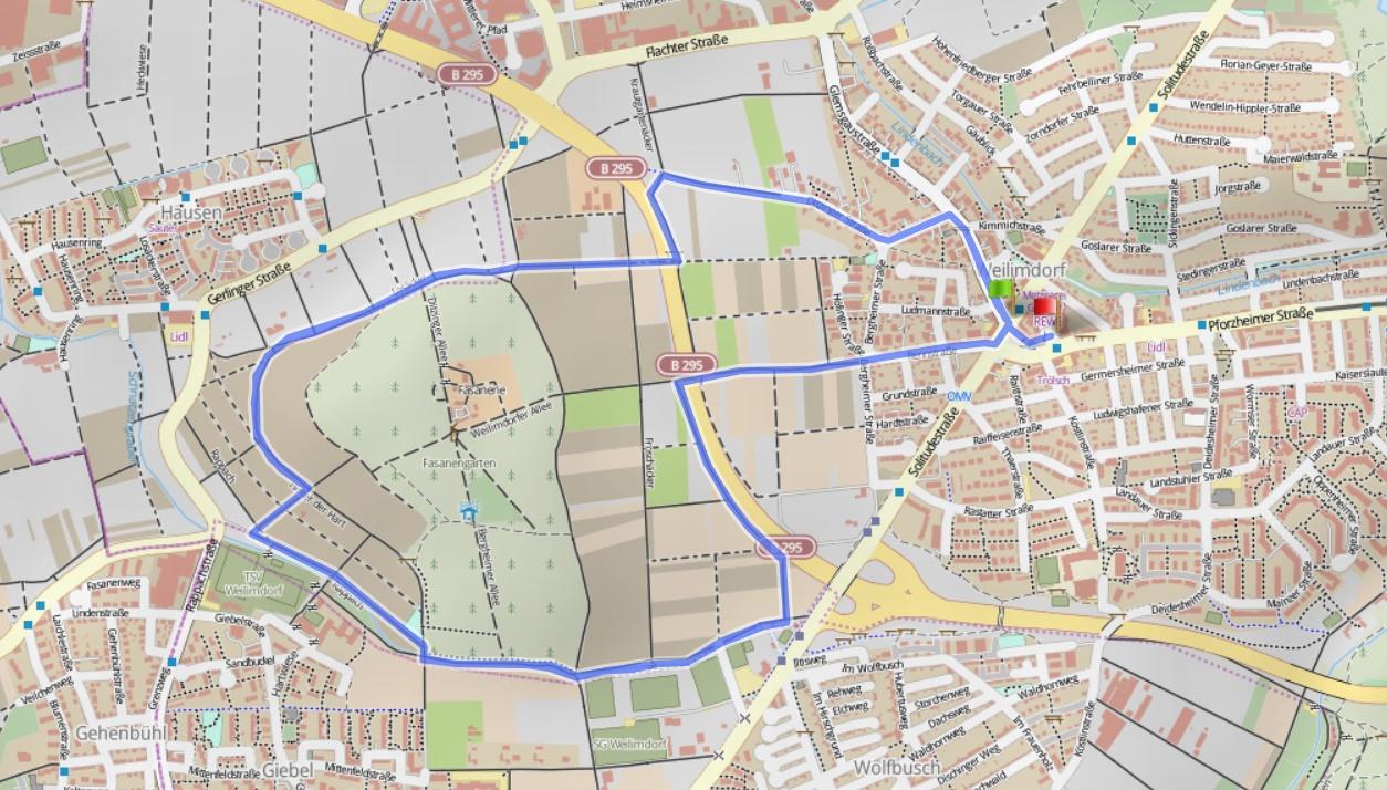 Route Stuttgarter Silvesterlauf 2017